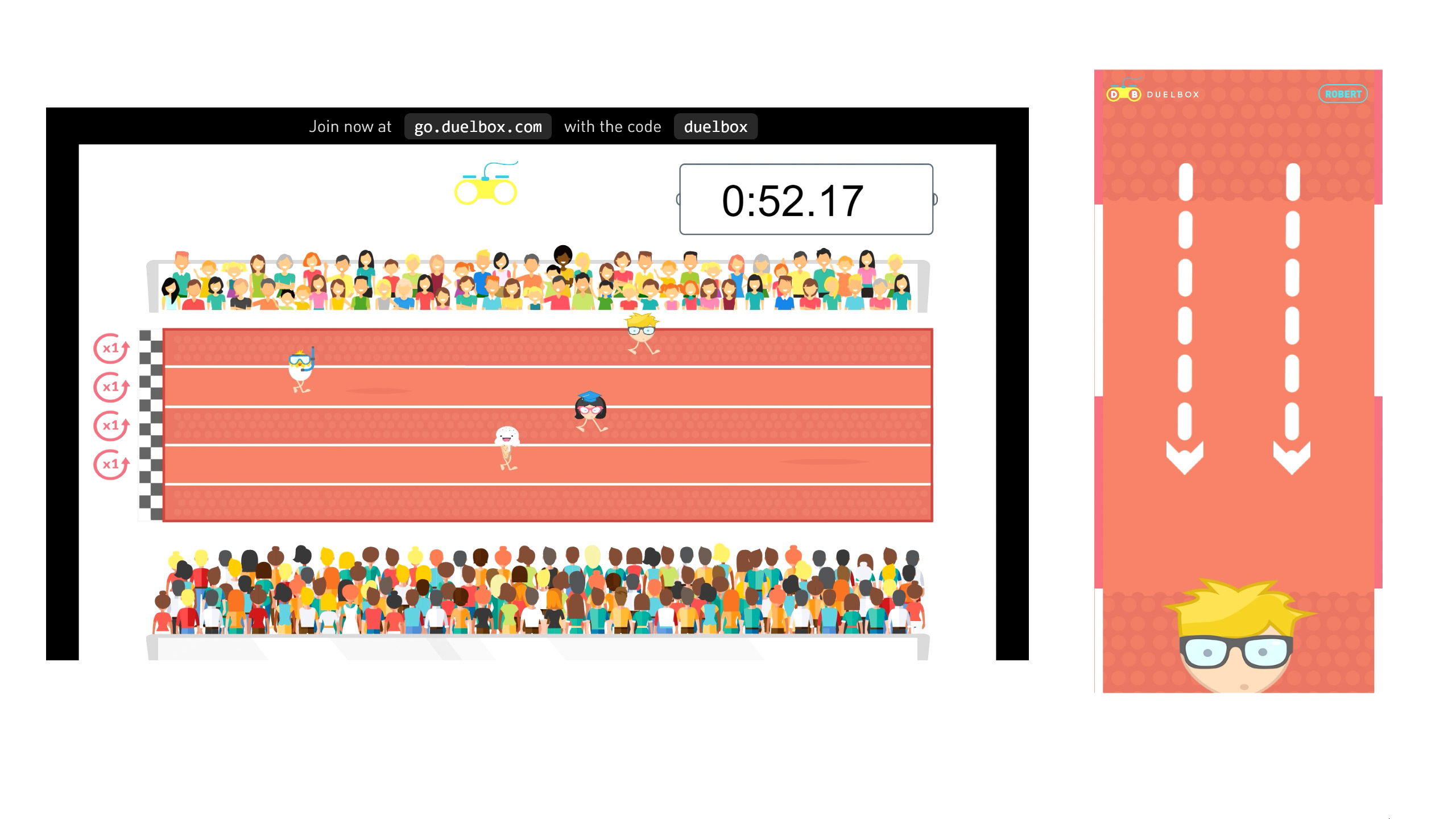 Running Sport Game Activity for Audience Engagement and Virtual Event